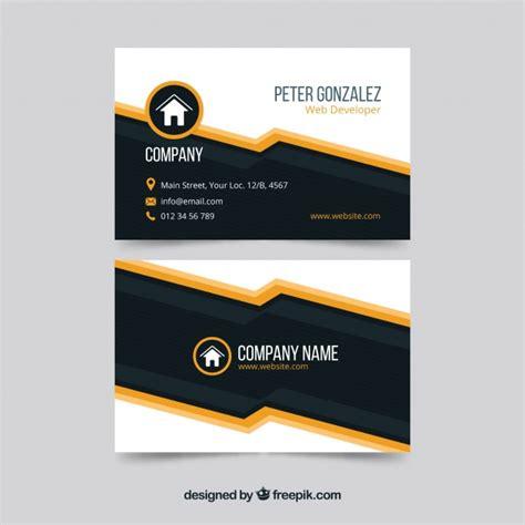 black orange business card template modern black and orange business card template vector