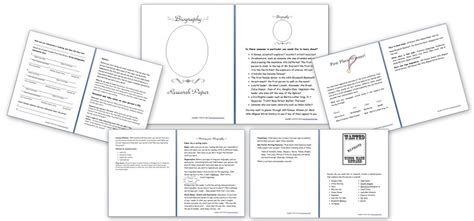research paper on homeschooling biography research paper resource pack free homeschool den