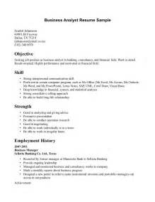 Resume Objectives For Business by 46 Best Business Analyst Resume Sles For Seekers Vntask