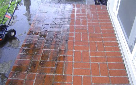 Power Washing Patio Pavers by Pressure Washing Before And After Pictures