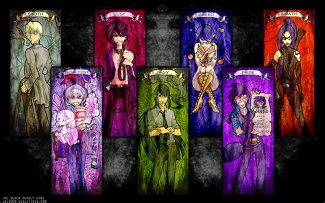 7 deadly sins colors seven deadly sins symbols colors www imgkid the