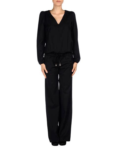 Patrizia Pepe Jumpsuit lyst patrizia pepe jumpsuit in black