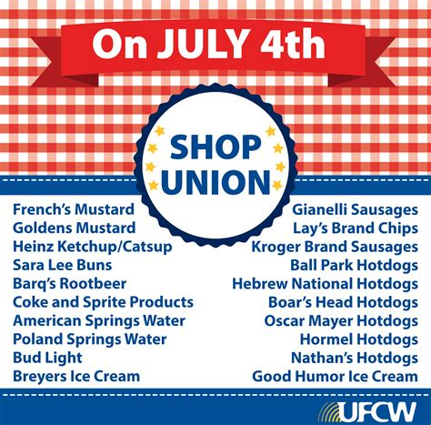 in july shopping support america support unions your ufcw made fourth of