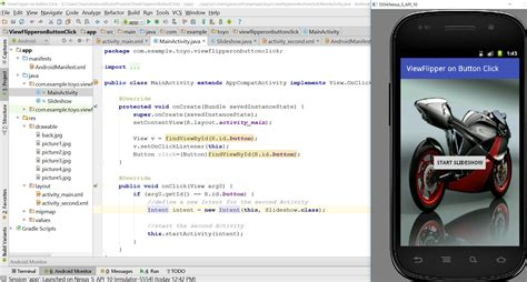 android studio onclick tutorial how to set viewflipper as live wallpaper on a button click
