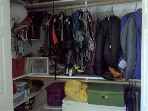 ideas for hanging backpacks 64 best images about gear closets on pinterest storage