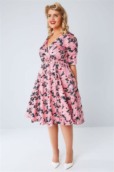Buterfly Dres voluptuous pink butterfly print dress plus size 16 to 32
