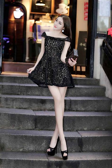 baju mini dress korea musim panas gugur model terbaru