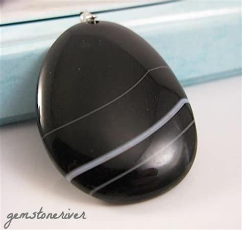 black striated onyx one unique gemstone agate