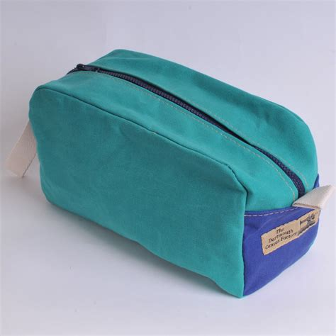 green wash wash bag green and royal blue