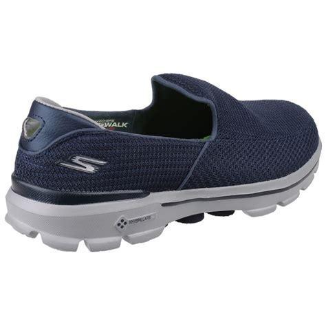 Skechers Go Walk 3 by Skechers Go Walk 3 S Navy Grey Sports Free Returns