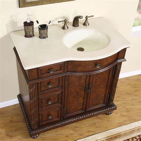 R Sink Vanity by 6213 Cm 36 R 36 Single Sink Vanity Marfil Marble Top Cabinet