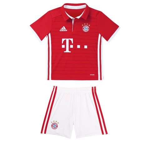 Jersey Bayern Munchen Home Go New Season 2017 18 Grade Ori 2016 2017 bayern munich adidas home boys mini kit ai0057 uksoccershop