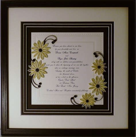 framed wedding invitation quilled wedding invitation keepsake custom wood frame quilling by white s boutique