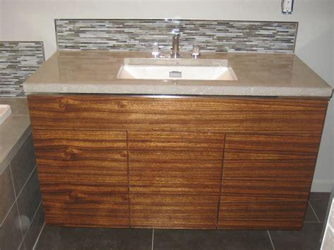 Hand Crafted Custom Bathroom W/ Zebrawood Vanity And