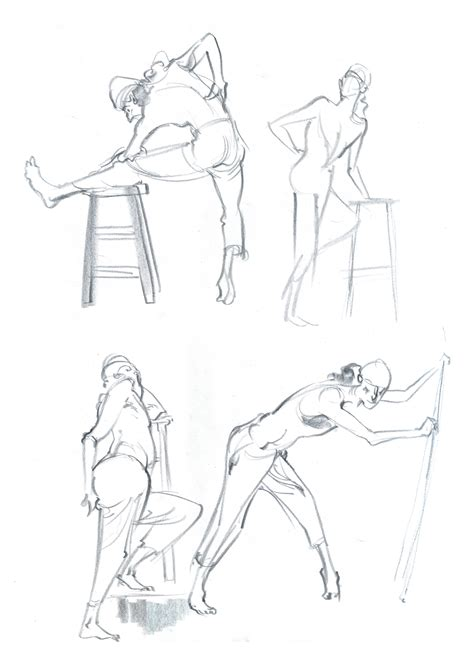 Sketches A 2 by Batrez More 2nd Year Gesture Drawing