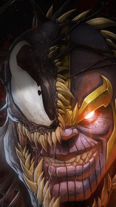 wallpaper marvel comics thanos venom  art