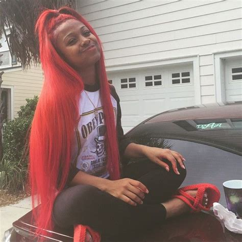 straight hair sew in red hair k michelle styles forever stuffing my face j a y d a pinterest