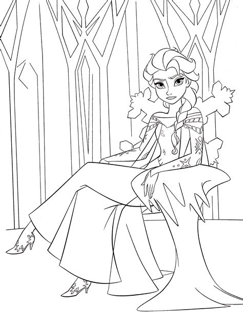 queen elsa coloring pages free coloring book queen elsa walt disney characters coloring
