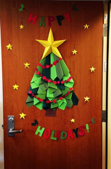 christmas door decorations for work tree door decor at work a smith of all trades