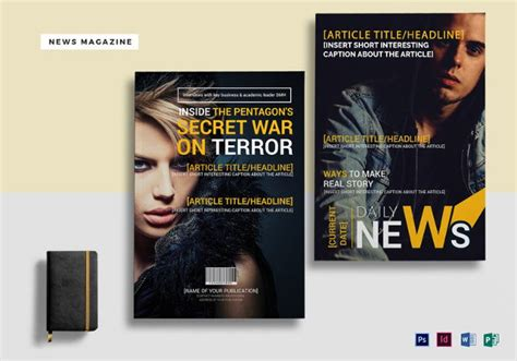editable magazine template 27 free psd magazine cover page designs templates free