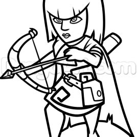 clash of clans archer queen coloring page preview print archer queen clash of clans coloring pages free