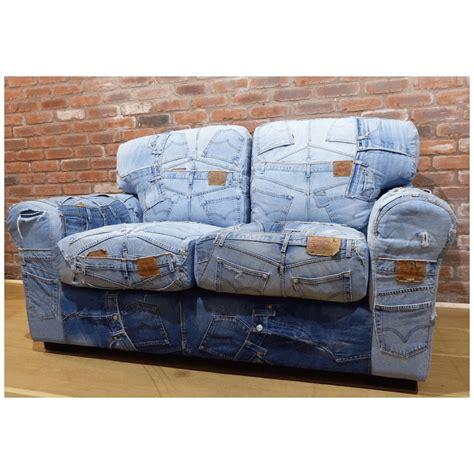 denim sofa blue recycled denim sofa denim retro vintage