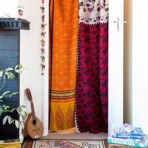 kantha curtains artisan made goods kantha quilts woven storage baskets