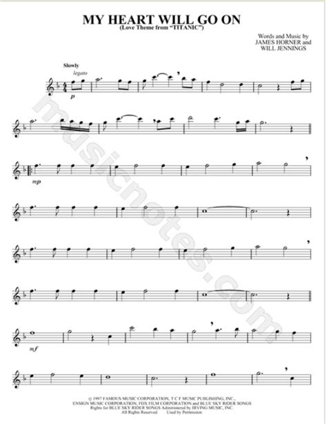 theme music of titanic free download flute sheet music for titanic theme quot my heart will go on