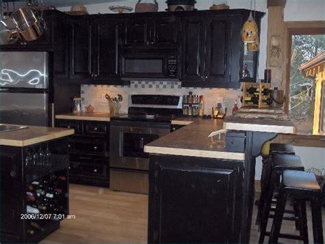 Painted Black Kitchen Cabinets Photos Home Improvement Area Painted Black Kitchen Cabinets