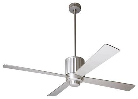 Modern Style Ceiling Fans by 52 Quot Modern Fan Flute Textured Nickel Ceiling Fan