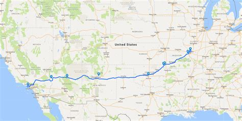 map of route 66 usa the best haunted road trip across route 66 route 66
