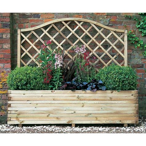 Planter With Lattice by Image Gallery Lattice Planter