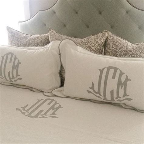 bed made of pillows 1000 ideas about monogram pillows on pinterest throw