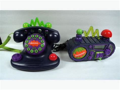 nickelodeon time blaster alarm clock radio talk blaster telephone central ottawa inside
