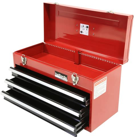 portable tool chest with drawers halfords professional tool chest red 3 drawer metal