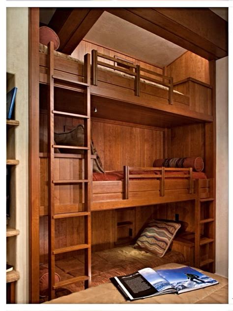 3 Level Bunk Bed Three Level Built In Bunk Beds The Home