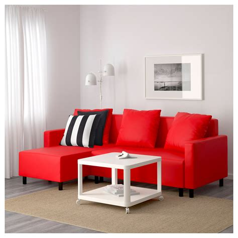 lugnvik sofa bed with chaise lounge review lugnvik sofa bed with chaise longue tall 229 sen red ikea