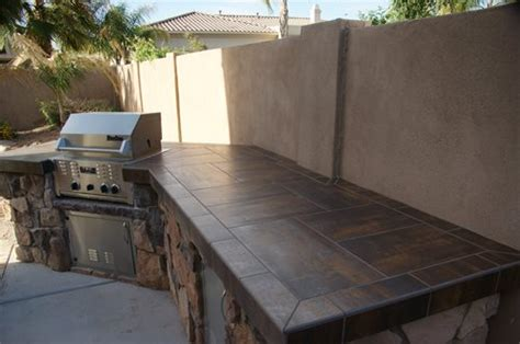 Outdoor Countertop Tile by Outdoor Countertops Landscaping Network