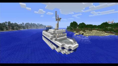 minecraft ferry boat minecraft the stallion express ferry youtube