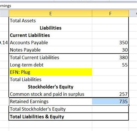 excel tutorial pro forma statement and afn definition
