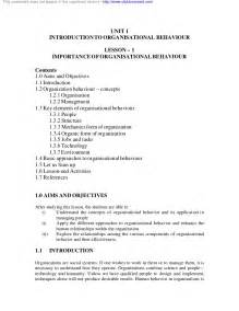 Organizational Behavior Essay Topics organizational behavior topics