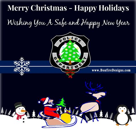 wishing police  law enforcement officers   merry christmas happy holidays