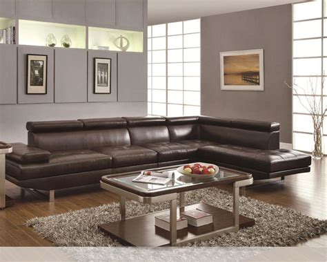 coaster leather sectional sofa coaster contemporary sectional sofa piper co 5030p ss