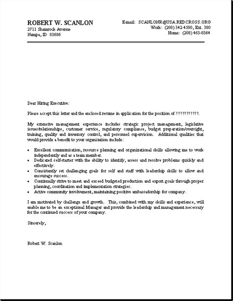 Exles Cover Letters For Resumes by Cover Letter For Resume Sle Resume Cover Letter