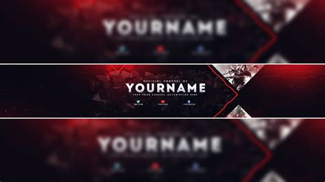 Gaming Banner Template Psd Youtube Gaming Banner Template 2017 Best Template Idea