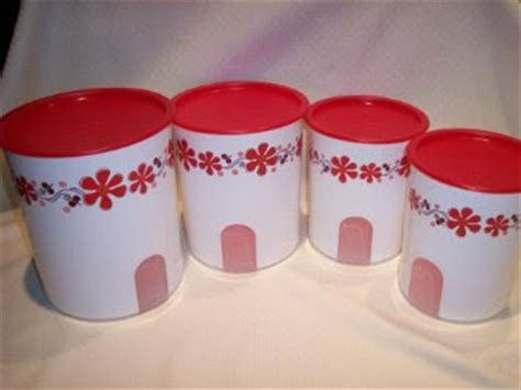 Tupperware Window Canister winshoppe tupperware tales n more ot floral window canisters