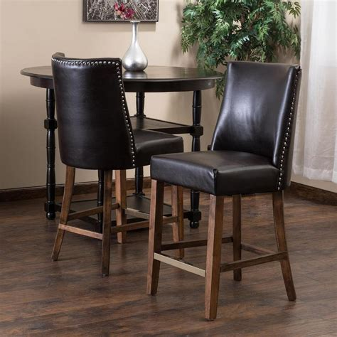 nailhead bar stool leather kitchen the awesome leather counter stools with nailheads