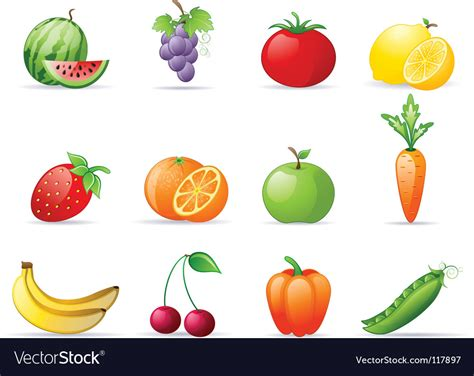 fruits and vegetables images fruit and vegetables royalty free vector image