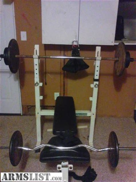 free weights and bench for sale armslist for sale trade weight bench and 300 pounds of