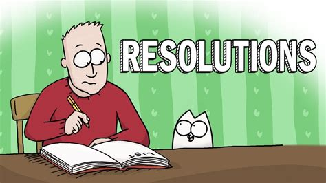 new year resolutions simon s cat guide to